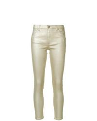 Pantalones pitillo dorados de Twin-Set