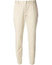 Pantalones pitillo en beige