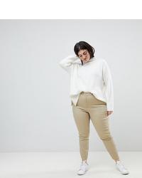 Pantalones pitillo en beige de Asos Curve
