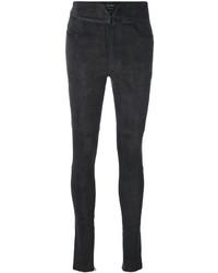 Pantalones pitillo en gris oscuro de Isabel Marant