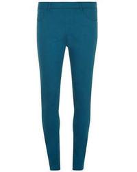 Pantalones pitillo en verde azulado original 4262537