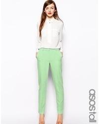 Pantalones pitillo en verde menta de Asos
