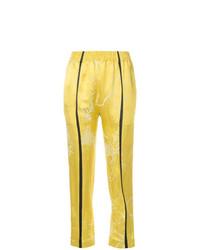 Pantalones pitillo estampados amarillos de Haider Ackermann