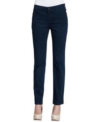 Pantalones pitillo estampados azul marino