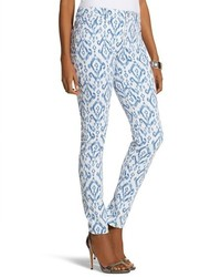 Pantalones pitillo estampados azules