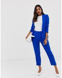 Pantalones pitillo estampados azules de Vila