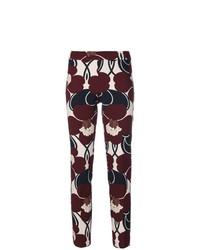 Pantalones pitillo estampados burdeos de P.A.R.O.S.H.