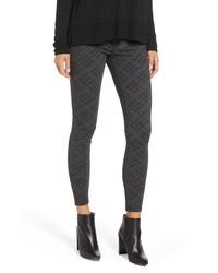 Pantalones pitillo estampados en gris oscuro