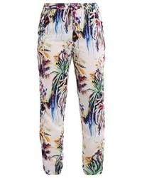 Pantalones pitillo estampados en multicolor de JETTE