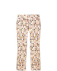 Pantalones pitillo estampados en multicolor de Meme