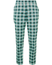Pantalones pitillo estampados verdes de Mary Katrantzou