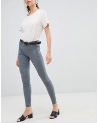 Pantalones pitillo grises de Pieces