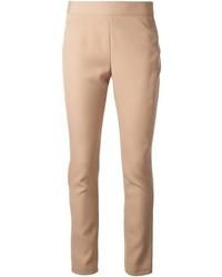 Pantalones pitillo marron claro original 4260927