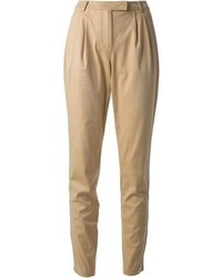 Pantalones pitillo marrón claro de Burberry
