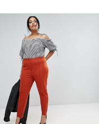 Pantalones pitillo naranjas de Asos Curve