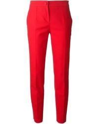 Pantalones pitillo rojos de Dolce & Gabbana