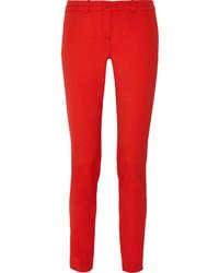 Pantalones pitillo rojos de Michael Kors