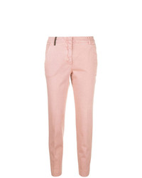 Pantalones pitillo rosados de Peserico