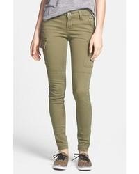 Pantalones pitillo verde oliva
