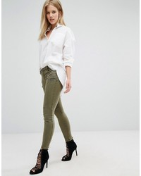 Pantalones pitillo verde oliva de Blank NYC