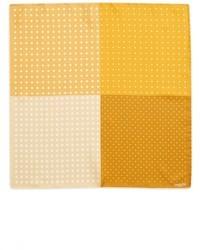 Pañuelo de bolsillo a lunares amarillo