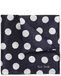 Pañuelo de bolsillo a lunares azul marino de Paul Smith