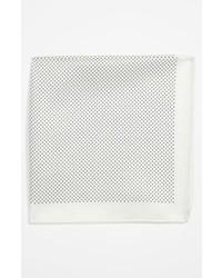 Pañuelo de bolsillo a lunares blanco