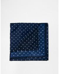 Pañuelo de bolsillo a lunares en azul marino y blanco de Asos