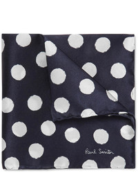 Pañuelo de bolsillo a lunares en azul marino y blanco de Paul Smith
