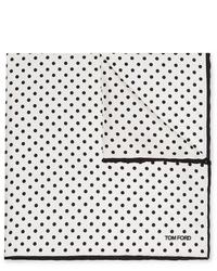 Pañuelo de bolsillo a lunares en blanco y negro de Tom Ford