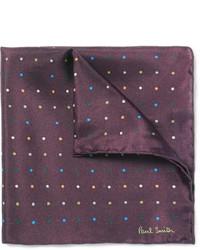 Pañuelo de bolsillo a lunares en marrón oscuro de Paul Smith