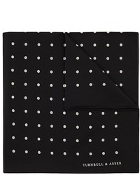 Pañuelo de bolsillo a lunares en negro y blanco