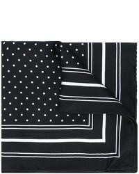 Pañuelo de bolsillo a lunares en negro y blanco de Dolce & Gabbana
