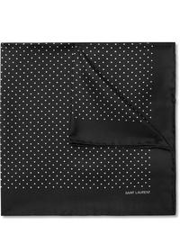 Pañuelo de bolsillo a lunares en negro y blanco de Saint Laurent