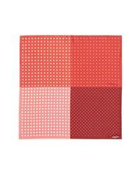 Pañuelo de bolsillo a lunares en rojo y blanco