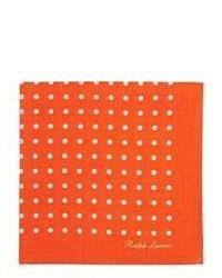 Pañuelo de bolsillo a lunares naranja