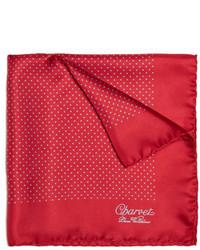 Pañuelo de bolsillo a lunares rojo