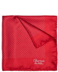 Pañuelo de Bolsillo a Lunares Rojo y Blanco de Charvet