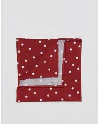 Pañuelo de bolsillo a lunares rojo de Asos