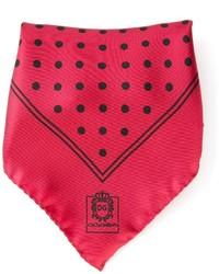 Pañuelo de bolsillo a lunares rojo de Dolce & Gabbana