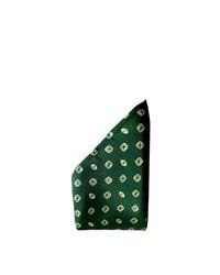 Pañuelo de bolsillo a lunares verde oscuro