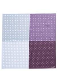 Pañuelo de bolsillo a lunares violeta claro