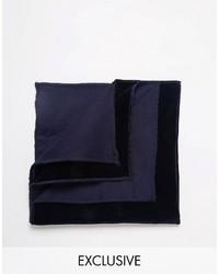 Pañuelo de bolsillo azul marino de Reclaimed Vintage