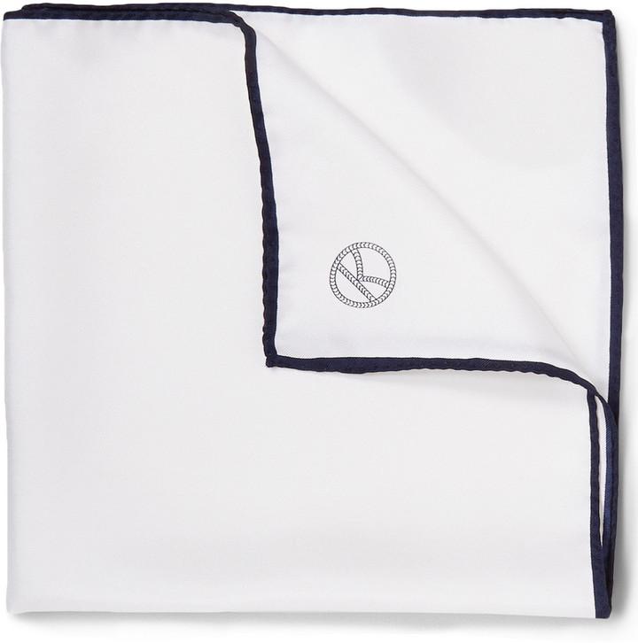 Pañuelo de bolsillo blanco de Drakes