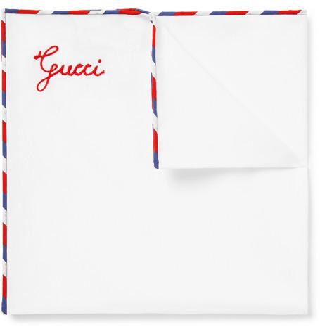 Pañuelo de bolsillo blanco de Gucci