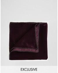 Pañuelo de bolsillo burdeos de Reclaimed Vintage