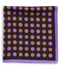 Pañuelo de bolsillo con estampado geométrico negro
