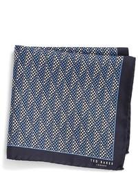 Pañuelo de bolsillo con estampado geométrico