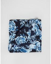 Pañuelo de bolsillo con print de flores azul marino de Asos