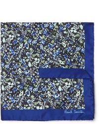 Pañuelo de bolsillo con print de flores azul marino de Paul Smith
